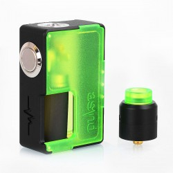 Authentic Vandy Vape Pulse BF Squonk Box Mod + Pulse 24 BF RDA Kit - Frosted Green, 8ml, 1 x 18650 / 20700, 24mm Diameter