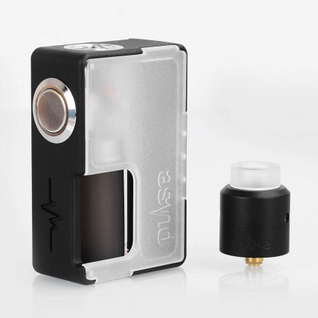 Authentic Vandy Vape Pulse BF Squonk Box Mod + Pulse 24 BF RDA Kit - Frosted White, 8ml, 1 x 18650 / 20700, 24mm Diameter