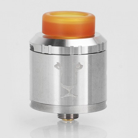 Authentic KAEES Aladdin RDA Rebuildable Dripping Atomizer w/ BF Pin - Silver, Stainless Steel, 24mm Diameter