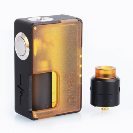Authentic Vandy Vape Pulse BF Squonk Box Mod + Pulse 24 BF RDA Kit - Ultem, 8ml, 1 x 18650 / 20700, 24mm Diameter