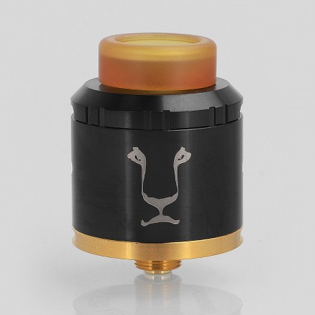 Authentic KAEES Aladdin RDA Rebuildable Dripping Atomizer w/ BF Pin - Black, Stainless Steel, 24mm Diameter