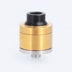 Sentinel Style RDA Rebuildable Dripping Atomizer w/ BF Pin - Gold, Stainless Steel, 22mm Diameter