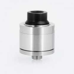 Sentinel Style RDA Rebuildable Dripping Atomizer w/ BF Pin - Silver, Stainless Steel, 22mm Diameter