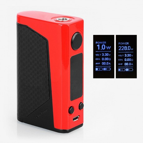 Authentic Joyetech eVic Primo 2.0 228W TC VW Variable Wattage Box Mod - Red, 1~228W, 2 x 18650