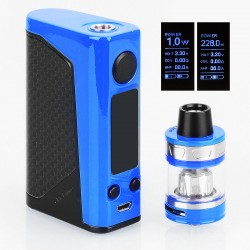 Authentic Joyetech eVic Primo 2.0 228W TC VW Box Mod with ProCore Aries Atomizer - Blue, 1~228W, 4ml, 2 x 18650