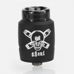 Authentic Blitz Ghoul RDA Rebuildable Dripping Atomizer w/ BF Pin - Black, Stainless Steel, 22mm Diameter