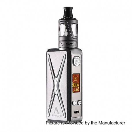 Authentic Rofvape Witcher XER 90W TC VW Variable Wattage Box Mod + Tank Kit - Grey, 1~90W, 1 x 18650, 2ml, 22mm Diameter