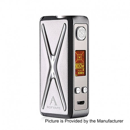 Authentic Rofvape Witcher XER 90W TC VW Variable Wattage Box Mod - Grey, 1~90W, Zinc Alloy, 1 x 18650