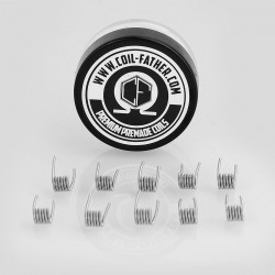 Authentic Coil Father Clapton Coils Kanthal A1 Heating Wire - 26GA + 32GA, 0.85 Ohm (10 PCS)
