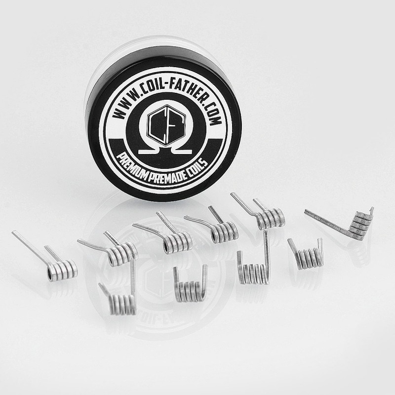 Authentic Coil Father 0.45ohm Fused Clapton Coils Kanthal A1 Wire