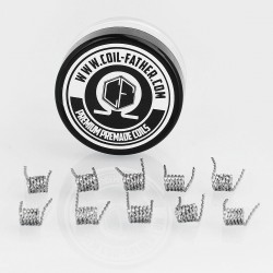 Authentic Coil Father Flat Twisted Coils Kanthal A1 Heating Wire - 0.2 x 0.8GA x 2, 0.36 Ohm (10 PCS)