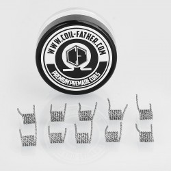 Authentic Coil Father Mix Twisted Coils Kanthal A1 Heating Wire - 0.2 x 0.8GA + 26GA, 0.45 Ohm (10 PCS)