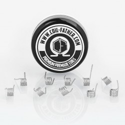 Authentic Coil Father Quad Coils Kanthal A1 Heating Wire - 28GA x 4, 0.36 Ohm (10 PCS)