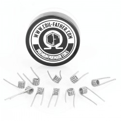 Authentic Coil Father Tiger Coils Kanthal A1 Heating Wire - 26GA + 0.2 x 0.8GA, 0.36 Ohm (10 PCS)