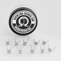 Authentic Coil Father Twisted Coils Kanthal A1 Heating Wire - 28GA x 2, 0.24 Ohm (10 PCS)