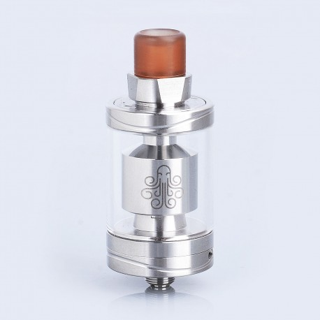 Authentic Cthulhu Hastur MTL RTA Rebuildable Tank Atomizer - Silver, Stainless Steel, 3.5ml, 24mm Diameter