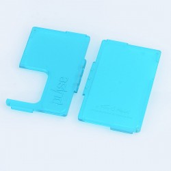 Authentic Vandy Vape Replacement Front + Back Panel for Pulse BF Squonk Box Mod - Frosted Cyan, ABS (2 PCS)