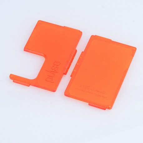 Authentic Vandy Vape Replacement Front + Back Panel for Pulse BF Squonk Box Mod - Frosted Orange, ABS (2 PCS)