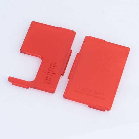 Authentic Vandy Vape Replacement Front + Back Panel for Pulse BF Squonk Box Mod - Frosted Red, ABS (2 PCS)