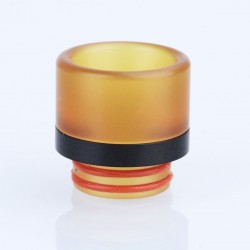 810 Wide Bore Drip Tip for TFV8 / TFV12 Tank / 528 Goon / Kennedy / Reload RDA - Brown + Black, PEI + Resin, 17mm