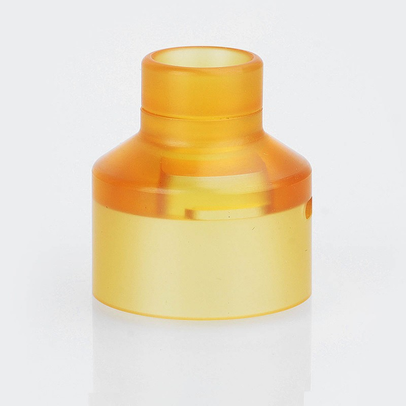 replacement yellow pei drip tip top cap kit for narca style rda. Black Bedroom Furniture Sets. Home Design Ideas