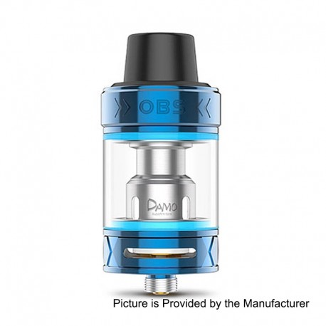 Authentic OBS Damo Sub Ohm Tank Clearomizer - Blue, Stainless Steel, 5ml, 25mm Diameter