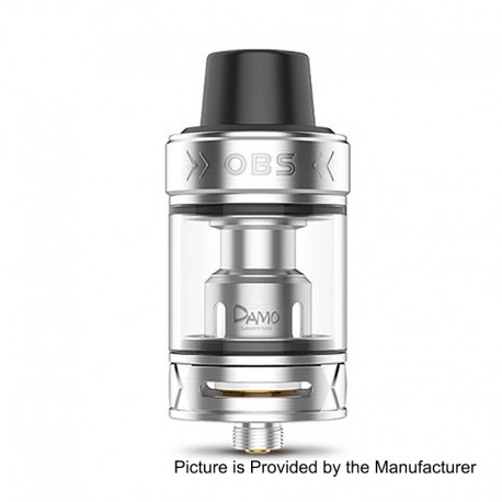 Authentic OBS Damo Sub Ohm Tank Clearomizer - Silver, Stainless Steel, 5ml, 25mm Diameter