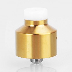 NarCa Style RDA Rebuildable Dripping Atomizer w/ BF Pin - Gold, Stainless Steel, 22mm Diameter