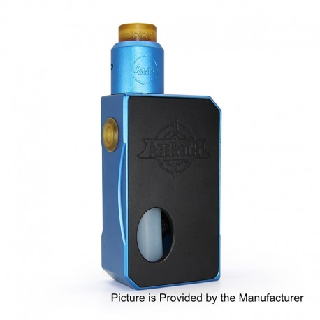 Authentic CoilART Azeroth Squonk Mechanical Box Mod + DPRO RDA Kit - Blue, 7ml, 1 x 18650 / 20700 / 21700, 24mm Diameter