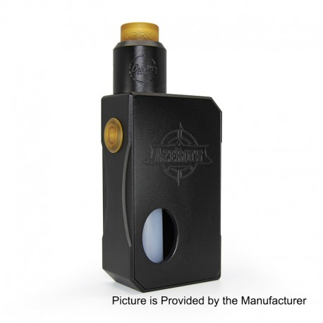 Authentic CoilART Azeroth Squonk Mechanical Box Mod + DPRO RDA Kit - Black, 7ml, 1 x 18650 / 20700 / 21700, 24mm Diameter
