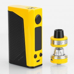 Authentic Joyetech eVic Primo 2.0 228W TC VW Box Mod with ProCore Aries Atomizer - Yellow, 1~228W, 4ml, 2 x 18650