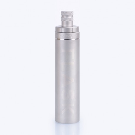 Authentic GeekVape Flask Liquid Dispenser for BF Squonk Mod / RDA - Silver, Stainless Steel + Silicone, 30ml