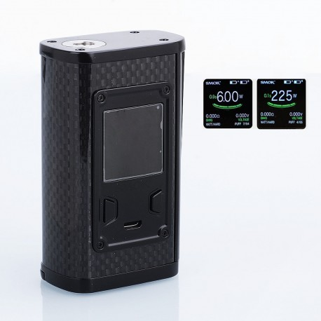 Authentic SMOKTech SMOK Majesty 225W TC VW Variable Wattage Box Mod - Black Carbon Fiber, 6~225W, 2 x 18650