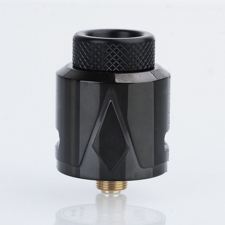 Authentic Smokjoy Pyramid RDA Rebuildable Dripping Atomizer w/ BF Pin - Black, Stainless Steel, 24mm Diameter
