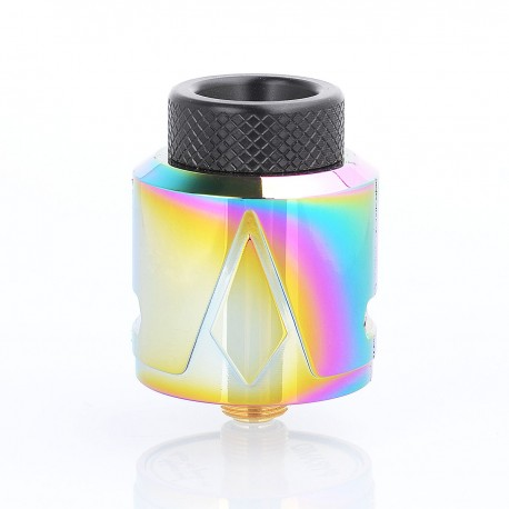 Authentic Smokjoy Pyramid RDA Rebuildable Dripping Atomizer w/ BF Pin - Rainbow, Stainless Steel, 24mm Diameter