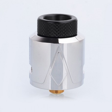 Authentic Smokjoy Pyramid RDA Rebuildable Dripping Atomizer w/ BF Pin - Silver, Stainless Steel, 24mm Diameter