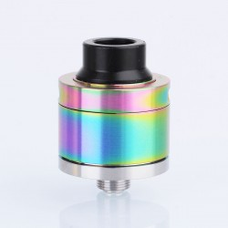 Sentinel Style RDA Rebuildable Dripping Atomizer w/ BF Pin - Rainbow, Stainless Steel, 22mm Diameter