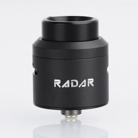 Authentic GeekVape Radar RDA Rebuildable Dripping Atomizer w/ BF Pin - Black, Stainless Steel, 24mm Diameter