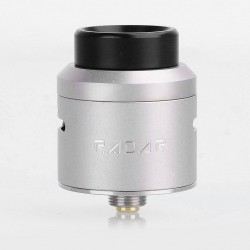 Authentic GeekVape Radar RDA Rebuildable Dripping Atomizer w/ BF Pin - Silver, Stainless Steel, 24mm Diameter