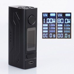 Authentic Smoant Battlestar Mini 80W TC VW Variable Wattage Box Mod - Black, 1~80W, 1 x 18650