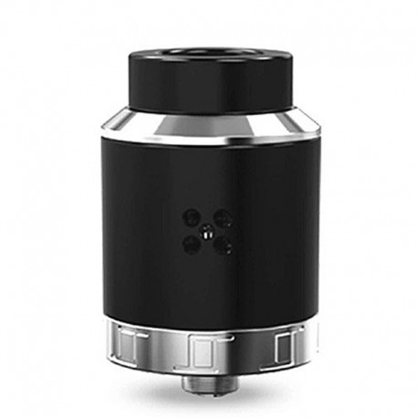 Authentic Oumier VLS RDA Rebuildable Dripping Atomizer w/ BF Pin - Black, Stainless Steel + PC, 25mm Diameter