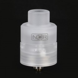 Authentic NCR Nicotine Reinforcer RDA Rebuildable Dripping Atomizer - White, PC + Stainless Steel, 24mm Diameter