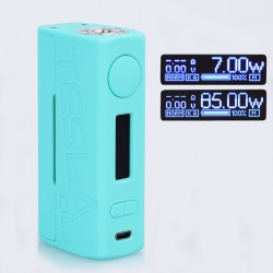 Authentic Tesla WYE 85W TC VW Variable Wattage Box Mod - Blue, ABS + PC, 7~85W, 1 x 18650
