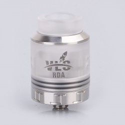 Authentic Oumier VLS RDA Rebuildable Dripping Atomizer w/ BF Pin - Silver, Stainless Steel + PC, 24mm Diameter