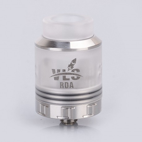Authentic Oumier VLS RDA Rebuildable Dripping Atomizer w/ BF Pin - Silver, Stainless Steel + PC, 25mm Diameter