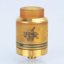Authentic Oumier VLS RDA Rebuildable Dripping Atomizer w/ BF Pin - Gold, Stainless Steel + PEI, 24mm Diameter