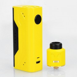 Authentic Smoant Battlestar Nano 80W Box Mod + Battlestar RDA Kit - Yellow, 1 x 18650, 24mm Diameter