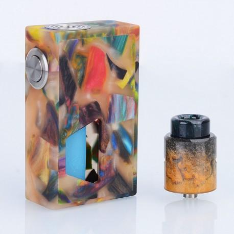 Authentic Aleader Funky Squonk Mechanical Box Mod + BF RDA Kit - Orange, Resin + Stainless Steel, 7ml, 1 x 18650, 24mm Diameter