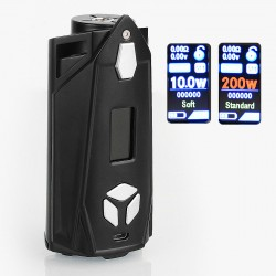 Authentic Pioneer4You IPV Xyanide 200W TC VW Variable Wattage Box Mod - Black, 5~200W, 2 x 18650