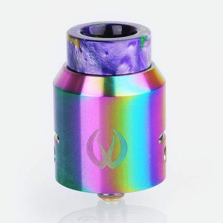 Authentic Vandy Vape Iconic RDA Rebuildable Dripping Atomizer w/ BF Pin - Rainbow, Stainless Steel, 24mm Diameter